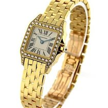 Cartier WF9002Y7 Santos Demoiselle - Mid Size - Diamond Case -...