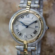 Cartier Pathere Ronde Mid Size Men's 18k Gold and Stainles...