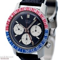 Zodiac Vintage Chronograph GMT Ref-2446 Stainless Steel Bj-1960