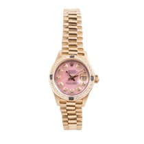 ロレックス (Rolex) 18K Gold Ladies President- Pink Diamond Dial -...