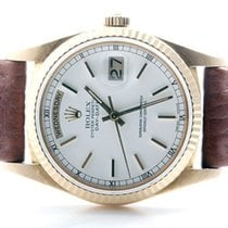 Rolex Mens 18K Yellow Gold President - White Roman Dial - 18238