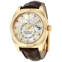 Rolex SKY-DWELLER 18K Yellow Gold Leather Strap 2017