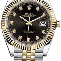 Rolex Datejust 41mm Steel and Yellow Gold 126333 Black Diamond...