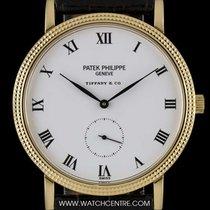 Patek Philippe 18k Y/G Double Name Tiffany&Co Porcelain...