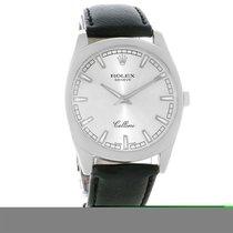 Rolex Cellini Danaos 18k White Gold Silver Dial Watch 4243 Box