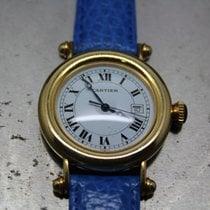 カルティエ (Cartier) Diabolo 18K/750 Gelbgold/Lederband - sehr...