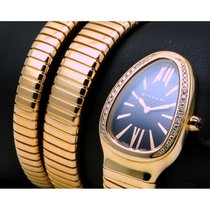 Bulgari | Serpenti Tubogas 18 Kt Pink Gold, Diamonds Set, Full...