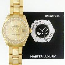 Rolex 178288 Champagne Diam Dial Diam Bezel Oyster Bracelet YG