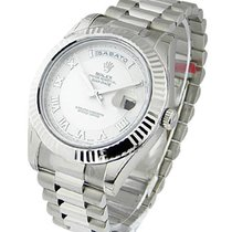 Rolex Used 218239 Mens Day Date II President in White Gold -...