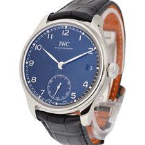 IWC IW510202 Portuguese Hand Wound 8 Days in Steel - on Black...