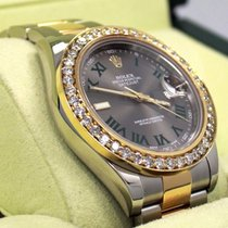 Rolex Datejust II 116333 41mm 18k Yellow Gold /ss 3.25ct Roman...
