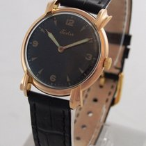 Fortis --- Vintage 18k Rose Gold Watch With Beautiful Fancy Lugs