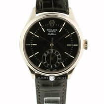 Rolex 50525 Cellini Dual Time Everose Gold Black Dial