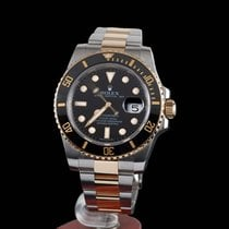 Rolex Submariner Date 300m Steel and Gold Black Ceramic
