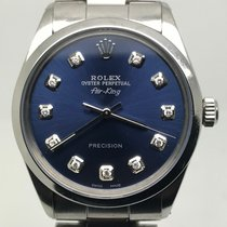 Rolex AIRKING 34MM AUTOMATIC BLUE DIAMONDS DIAL
