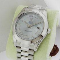 Rolex 218206 Day Date II Platinum President 41mm Blue Diamond...