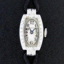 Movado Vintage Ladies 14k White Gold Diamond Cocktail Watch