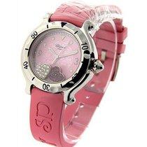 Chopard 27/8951 Happy Hearty in Steel - on Pink Rubber Strap...