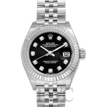Rolex Lady-Datejust 28 Black 18k White Gold/Steel Dia 28mm -...