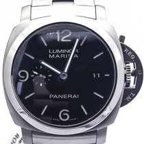 Panerai Luminor 1950 Pam 328 3 Day Automatic On Bracelet Complete