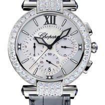 Chopard Imperiale Chrono 18K White Gold, Blue Sapphires &...