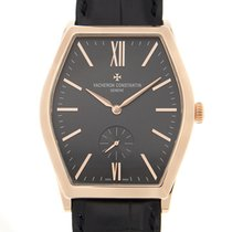 Vacheron Constantin Malte 18k Rose Gold Black Manual Wind...