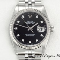 Rolex Datejust 16234 Stahl Weissgold 750 Diamanten 36mm Date Just