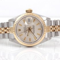 Rolex Ladies 18K/SS Datejust - Silver Stick Marker Dial - 69173