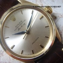 Rolex 1964 very rare 9K solid gold Air King Leaf hands Ref 5500