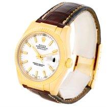 Ρολεξ (Rolex) Datejust 18k Yellow Gold Leather Strap Mens...