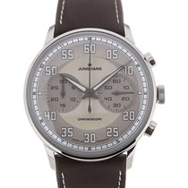 Junghans Meister Driver Chronoscope 41 Brown Leather