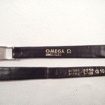 Omega 11 mm black leather Omega strap 8mm steel buckle VTGwatch