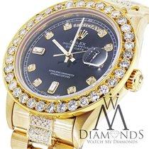Diamond Presidential Rolex 18038 Quickset Watch Black Diamond...
