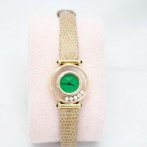Chopard Happy Diamonds 18k Gold Ladies Watch Factory Diamonds...