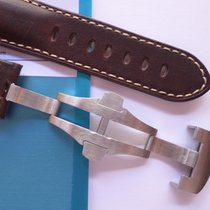 Bodhy 24/22mm Brown deplo strap, leather band for Panerai 24mm