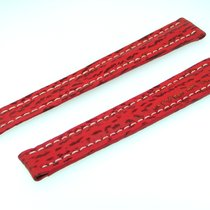 Breitling Band 15mm  Red Roja Shark Strap Correa B15-36