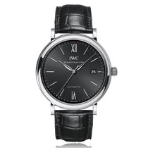 IWC Schaffhausen Portofino Automatic Black 40mm Mens Watch...