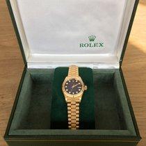 Rolex Oyster Perpetual Lady Datejust 18 K Gold 69178 Zifferbla...