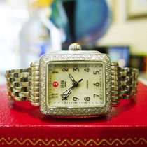 Michele Deco  Stainless Steel Mop Diamond Quartz Ladies Watch