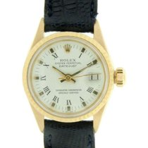 Rolex Datejust Lady 6517 Cassa In Oro Giallo E Cinturino In...