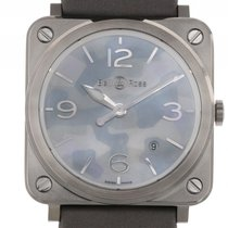 Bell & Ross Aviation BR S Grey Camouflage Stahl Quarz...