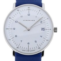 Junghans Max Bill 33 Quartz Blue Leather
