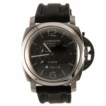Panerai Luminor 1950 8 Days GMT Acciaio 44MM Watch PAM00233...