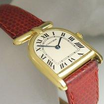Cartier Calandre Romane Damen Uhr Quarz 750/18K Gelbgold Top...