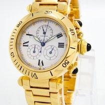 "Cartier ""1353.1 Pasha Chronograph"" Watch - 35.7mm 18k..."