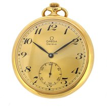 歐米茄 (Omega) 18K Pocket Watch, Small Second