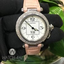 Cartier Pasha 2475 W31044M7 35mm 1.8ct Diamond Bezel Women&#39...