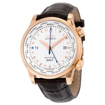 Mido GMT Automatic Silver Dial Brown Leather Men's Watch