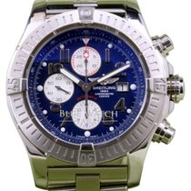 Breitling Super Avenger A13370 Blue Arabic 48mm Stainless...
