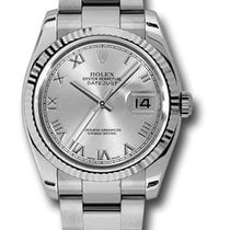 Rolex Used 116234 Oyster Perpetual Datejust - Fluted Bezel -...